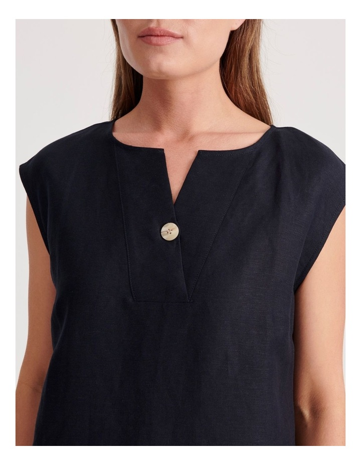 V Neck Dress With Button image 5