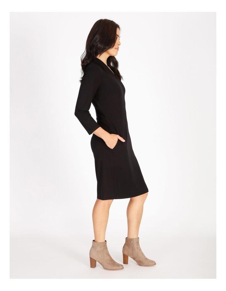 Tucked V-Neck 3/4 Sleeve Dress image 2