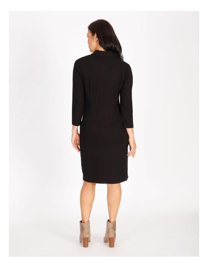 Tucked V-Neck 3/4 Sleeve Dress image 3