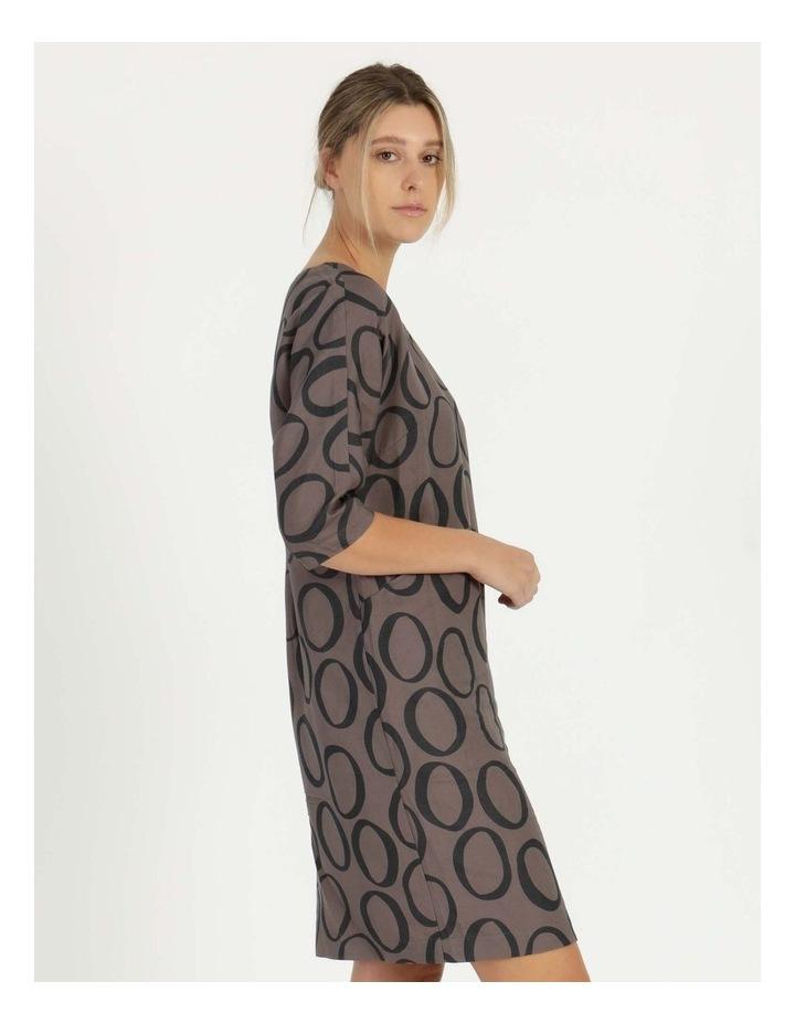 3/4 Sleeve Waist Seam Dress With Pockets image 2