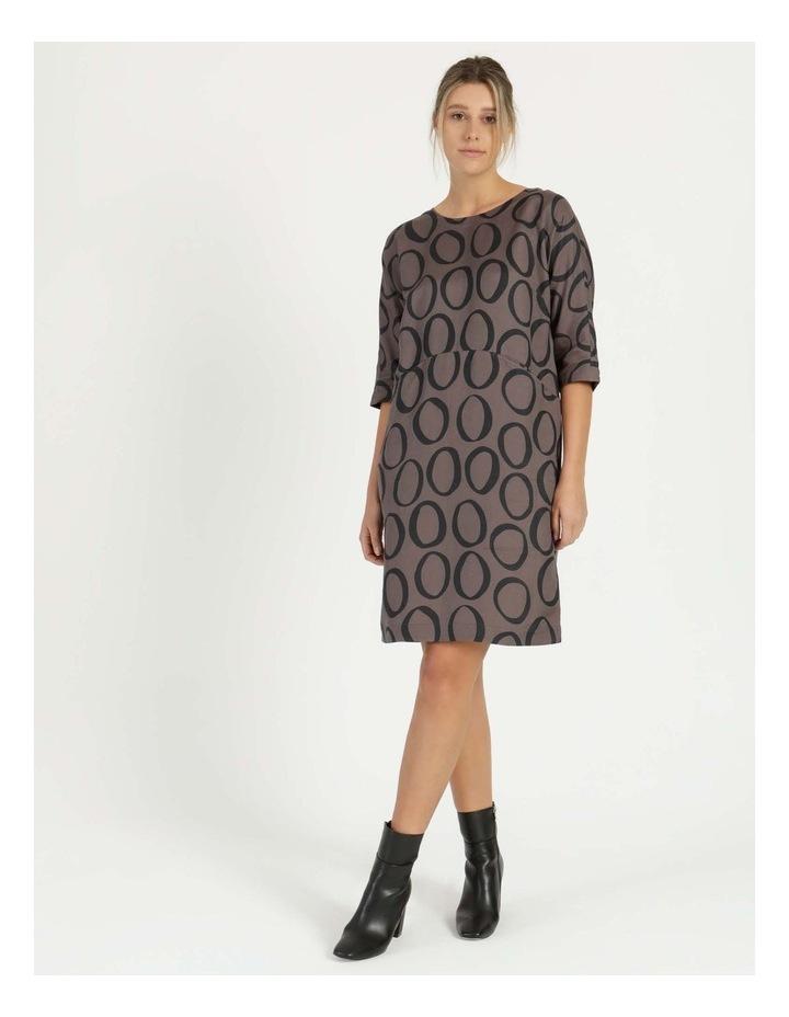 3/4 Sleeve Waist Seam Dress With Pockets image 3