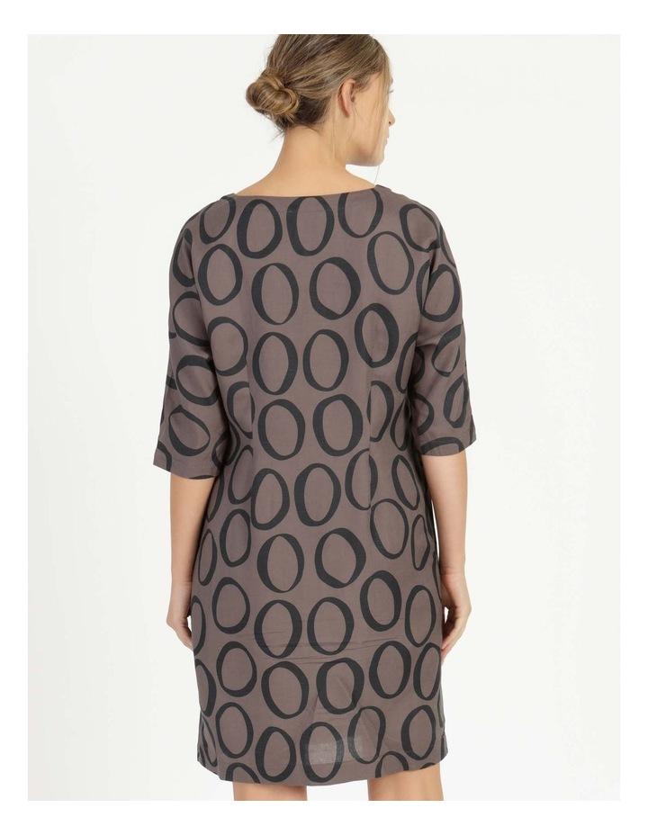 3/4 Sleeve Waist Seam Dress With Pockets image 4