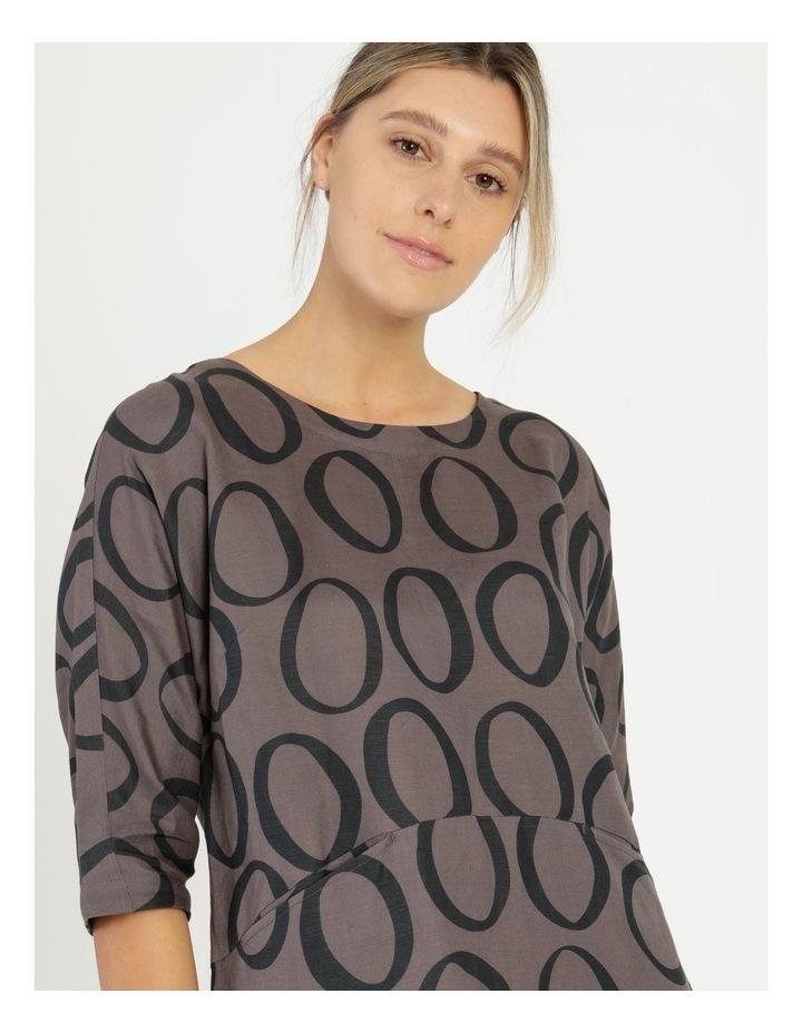3/4 Sleeve Waist Seam Dress With Pockets image 5