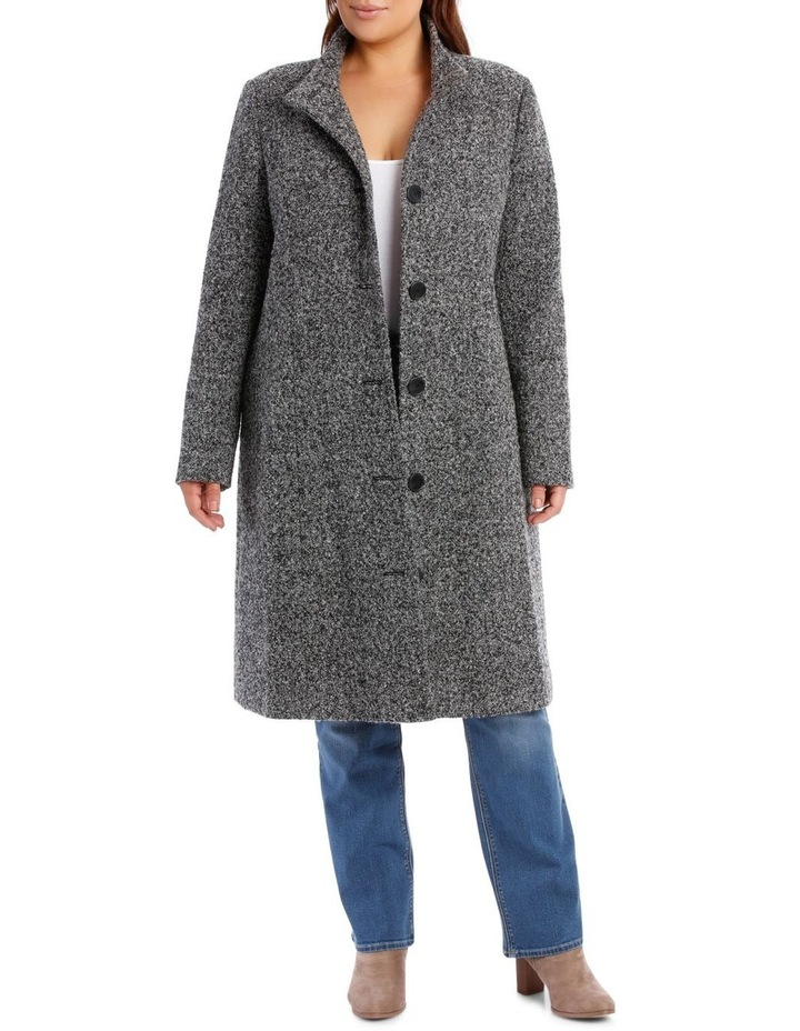 Textured Stand Collar Coat image 1