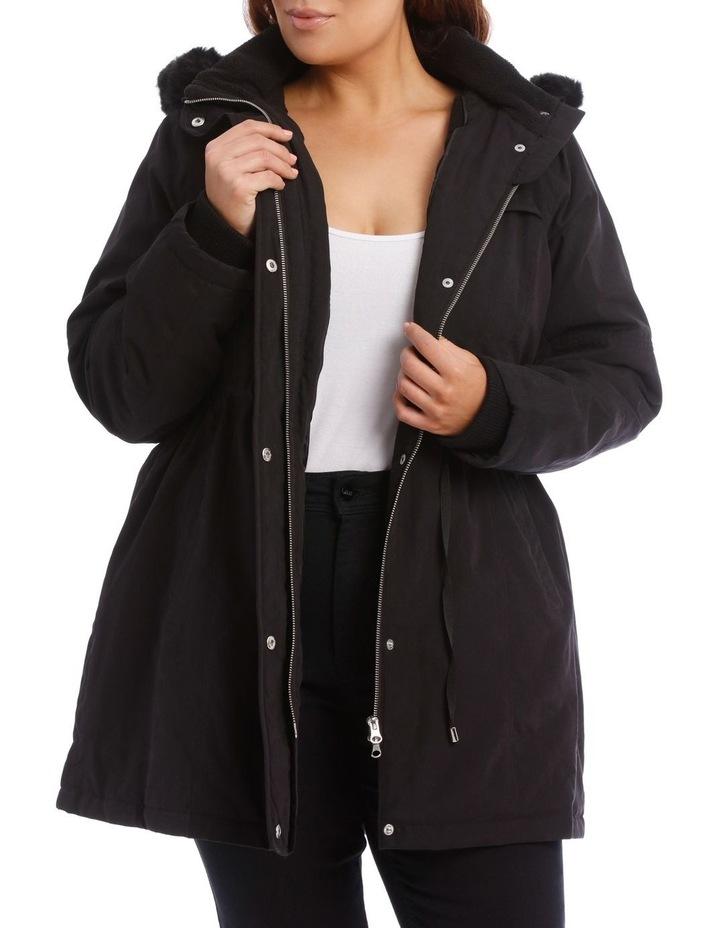 Soft Fur Trim Long Line Jacket image 1