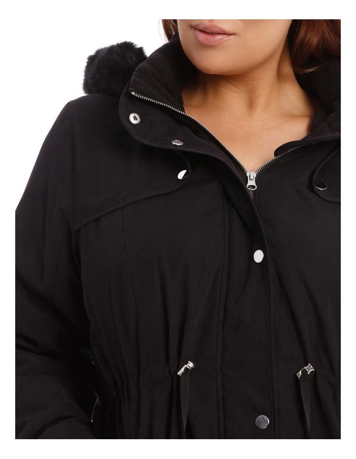 Soft Fur Trim Long Line Jacket image 4