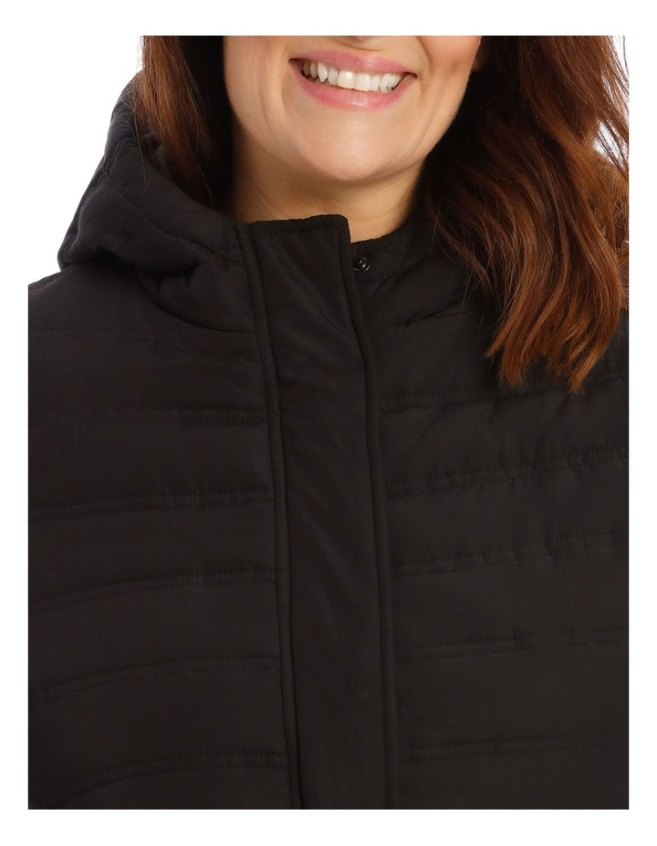 Quilted Rib Side Jacket With Hood image 4
