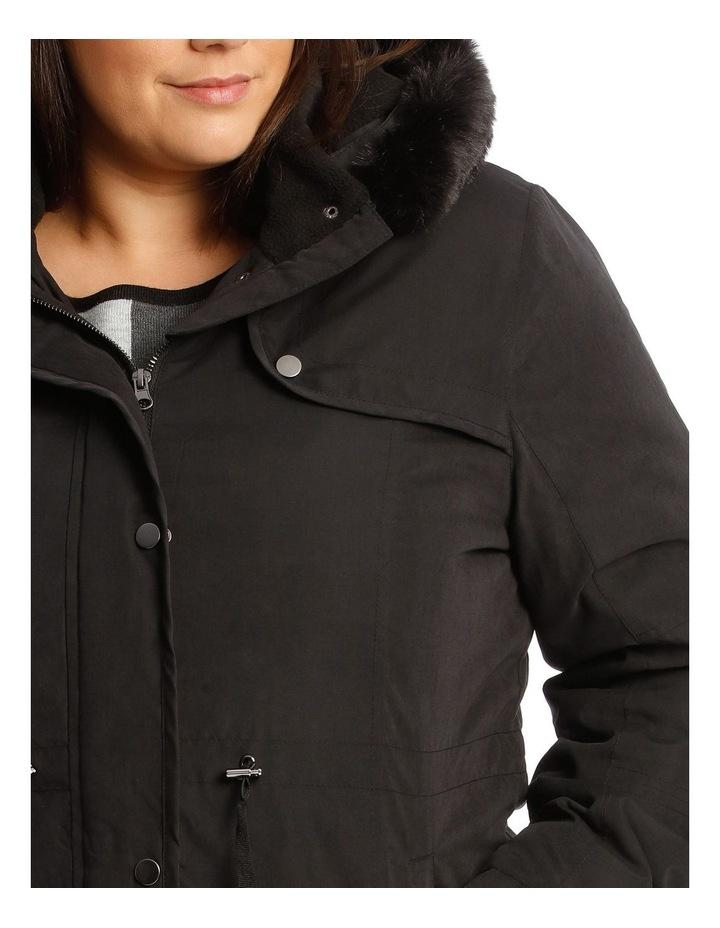 Long Line Soft Fur Trim Jacket image 4