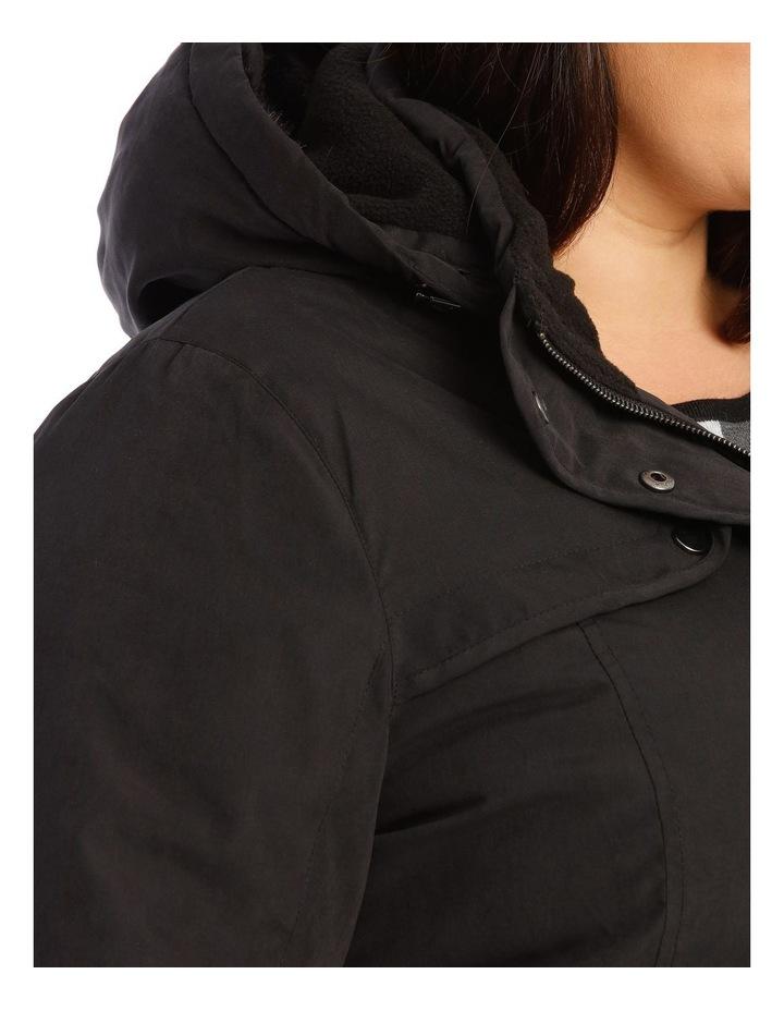 Long Line Soft Fur Trim Jacket image 5