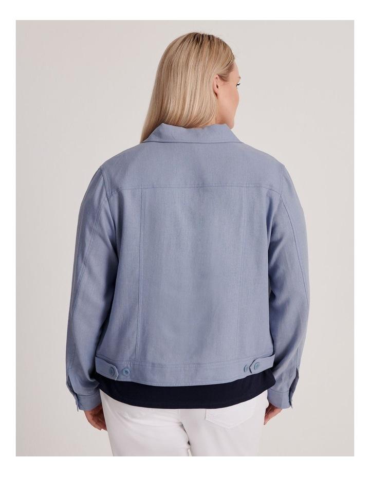 Linen Blend Jean Style Jacket-Blue Ash image 4