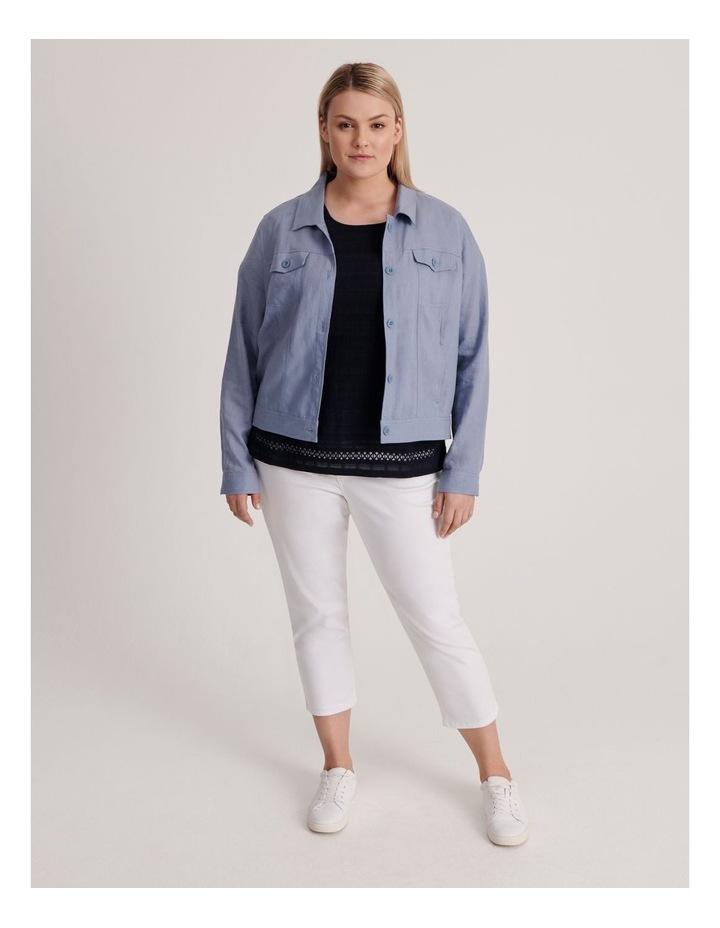 Linen Blend Jean Style Jacket-Blue Ash image 5