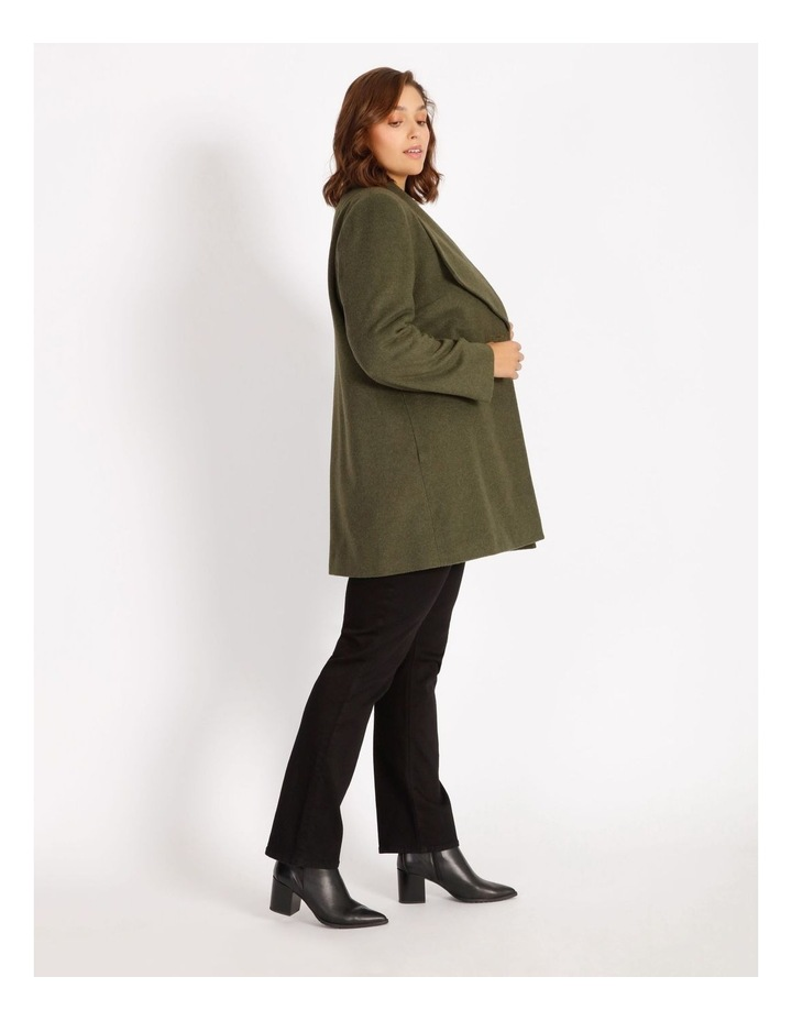 Olive Grove Shawl Collar Coat With Single Button image 2