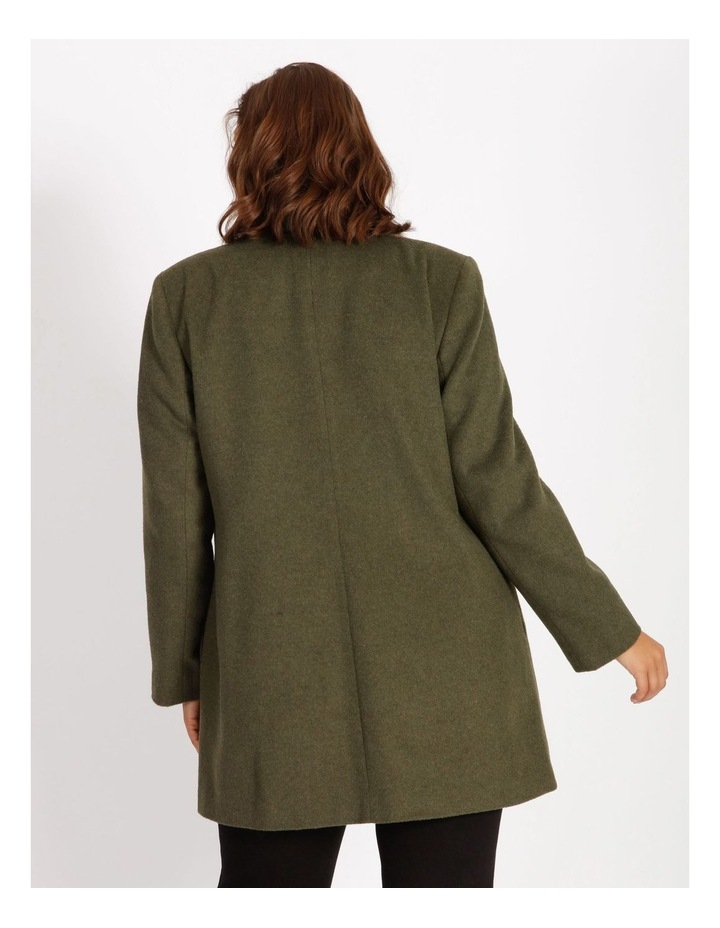 Olive Grove Shawl Collar Coat With Single Button image 3