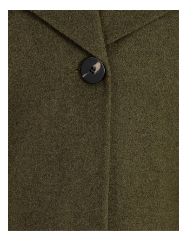Olive Grove Shawl Collar Coat With Single Button image 5