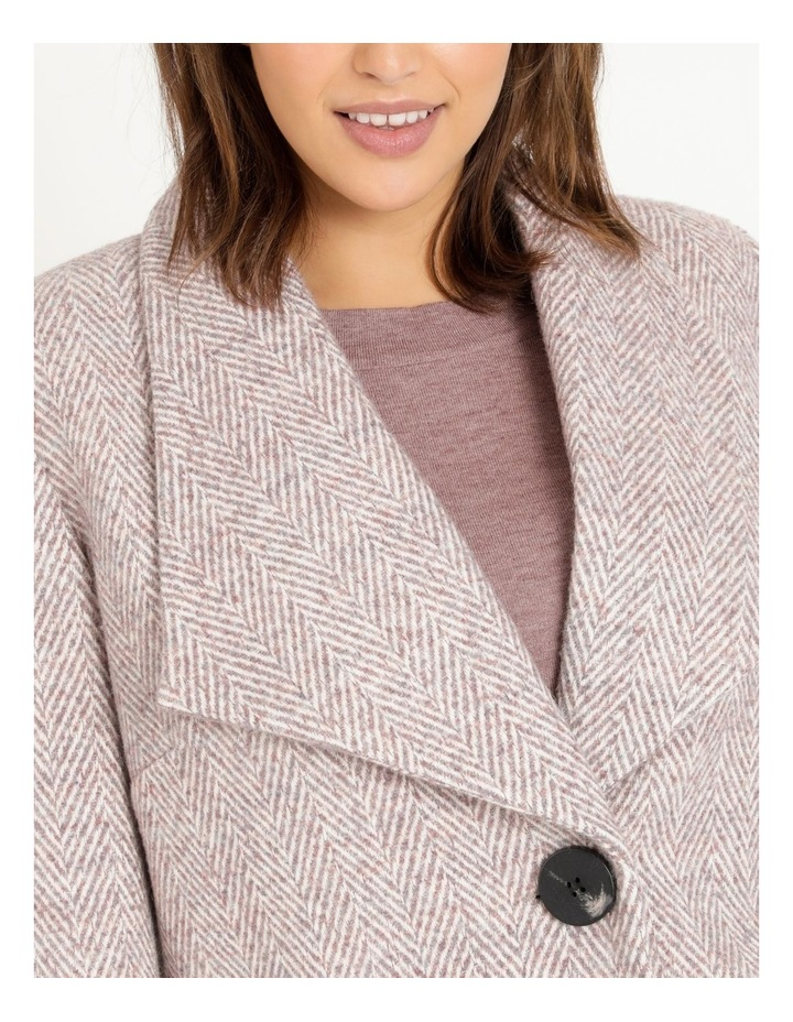 Confluence Shawl Collar Coat With Single Button image 5
