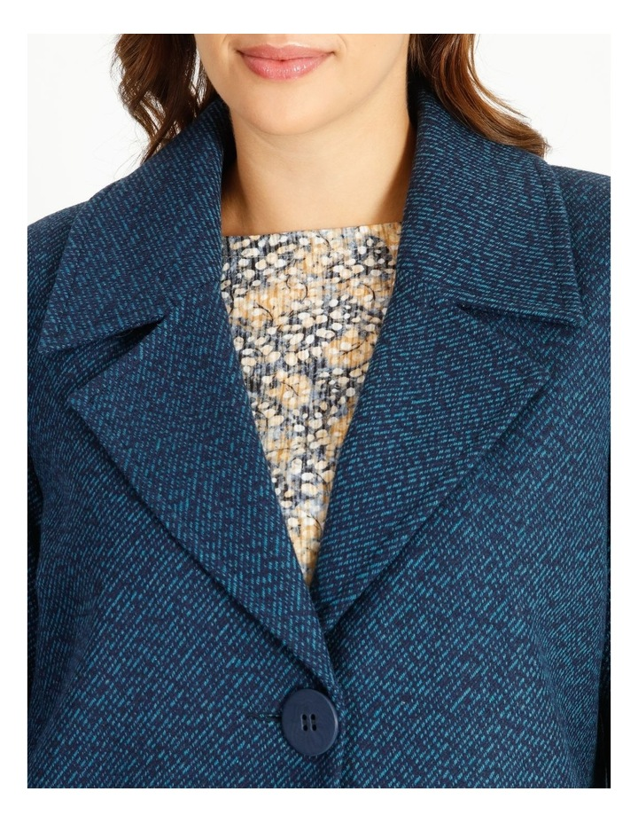 Mottled Marble Jacket With Lapels And Collar image 4