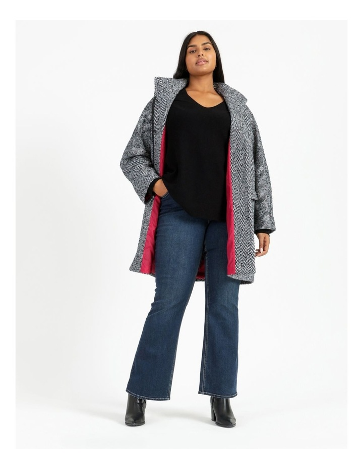 Funnel Neck With Button Raglan Sleeve Coat image 2