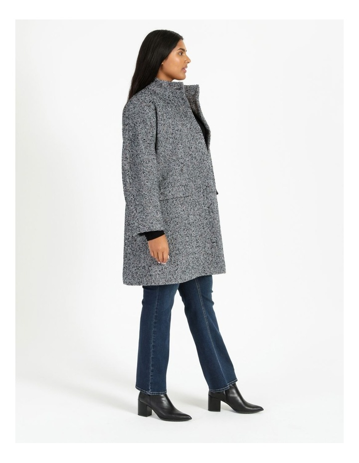 Funnel Neck With Button Raglan Sleeve Coat image 3