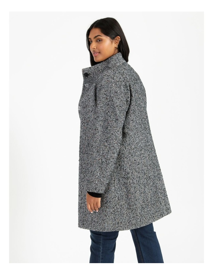 Funnel Neck With Button Raglan Sleeve Coat image 4