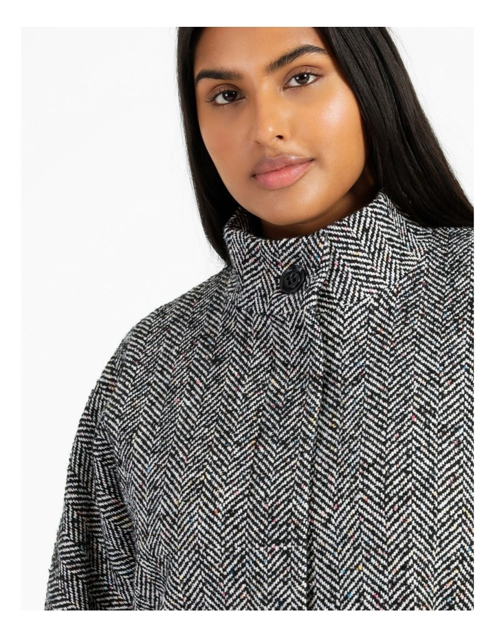 Funnel Neck With Button Raglan Sleeve Coat image 6