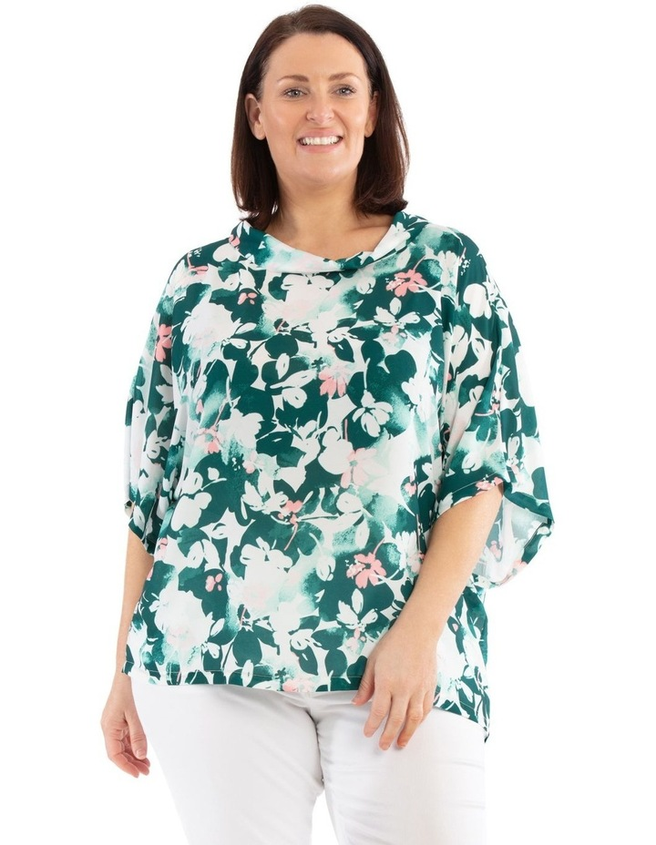 Fold Neck Short Sleeve Maygar Top image 1