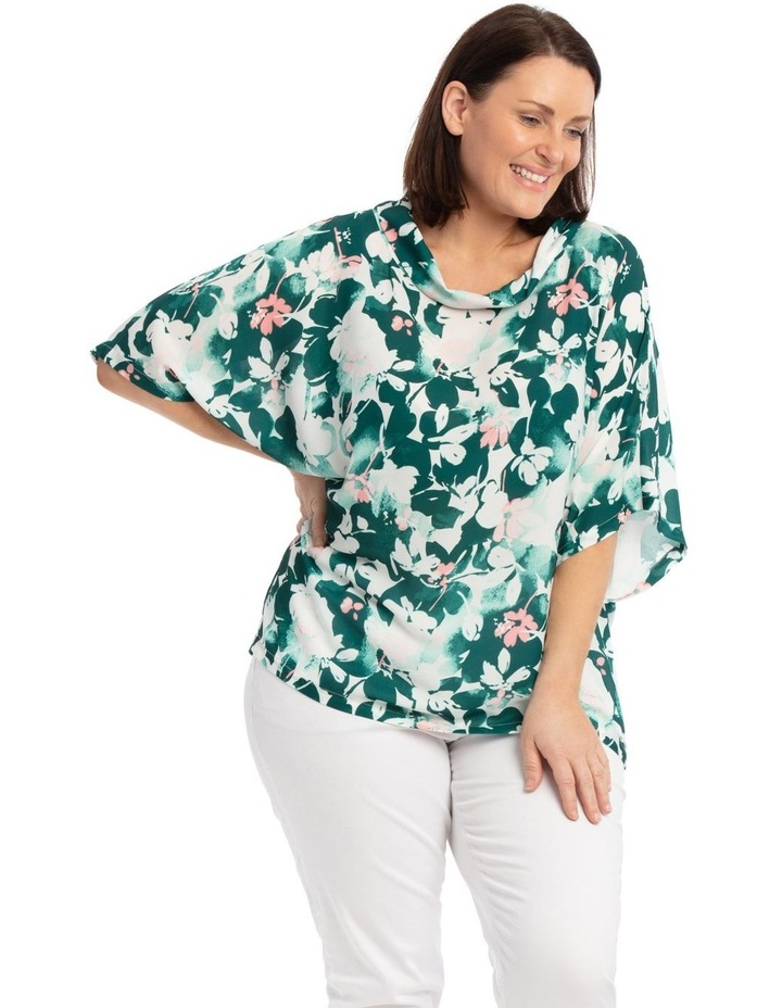 Fold Neck Short Sleeve Maygar Top image 2