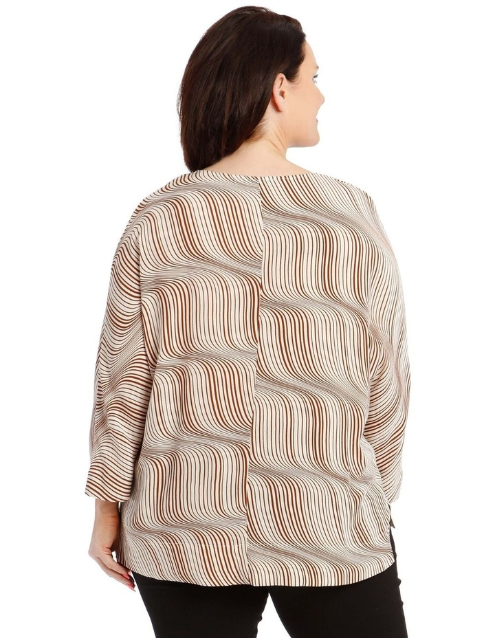 3/4 Magyar Sleeve Top With V-Neck Tuck And Buttons image 3