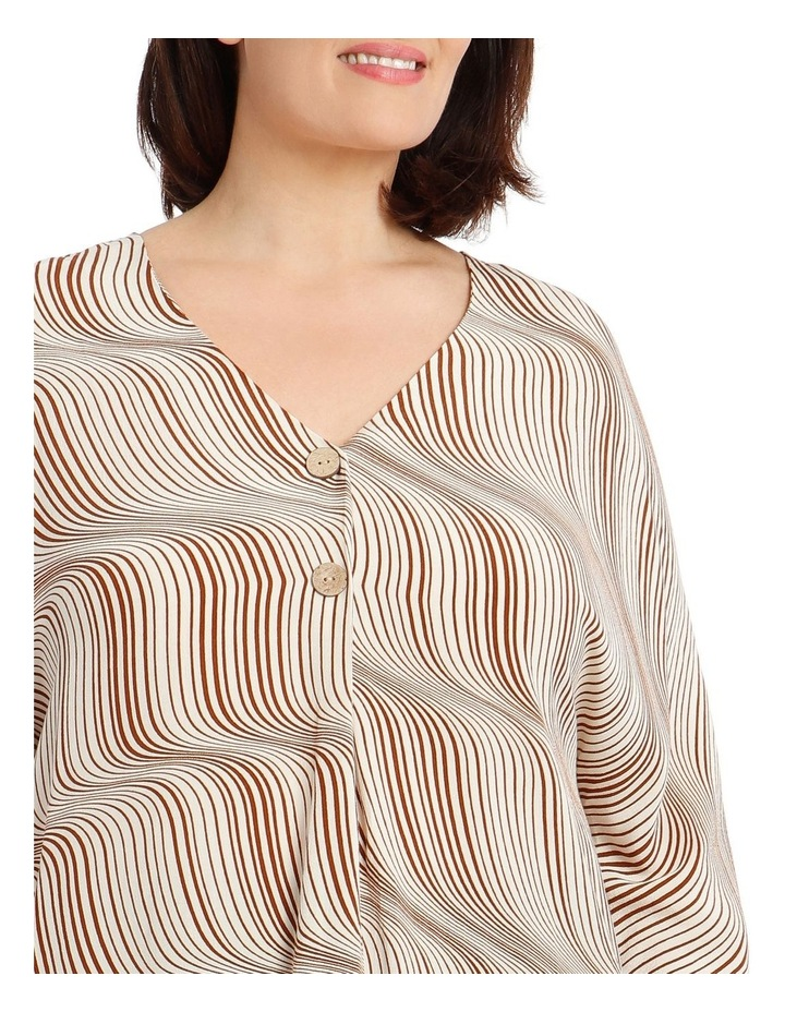 3/4 Magyar Sleeve Top With V-Neck Tuck And Buttons image 4