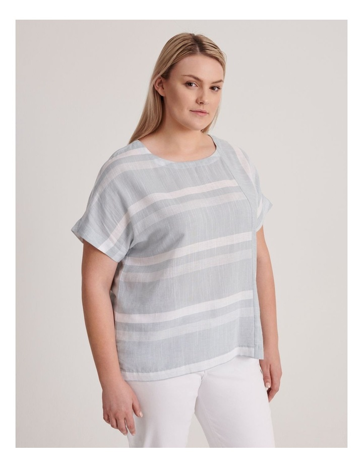 Magyar Sleeve Horizontal/Vertical Stripe Top image 2