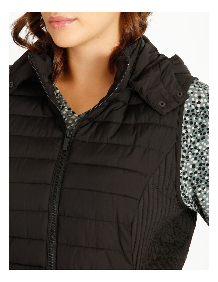Olive Grove Straight Quilted Vest With Removable Hood image 5