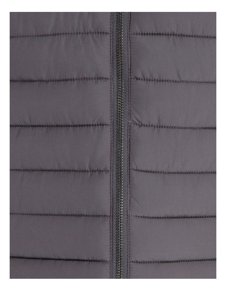 Olive Grove Straight Quilted Vest With Removable Hood image 7