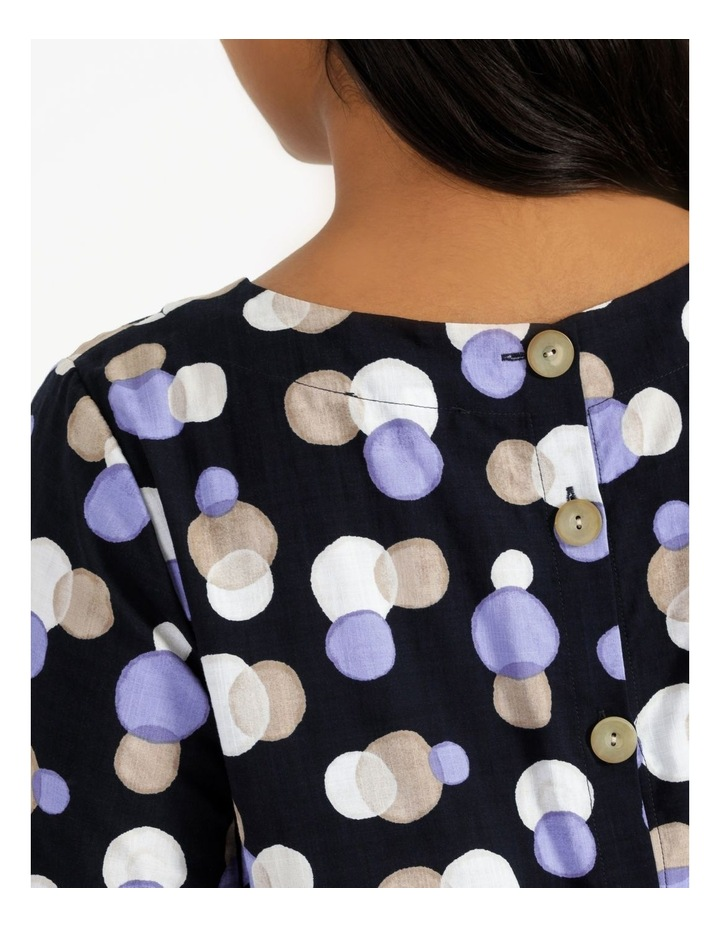 Gathered Cuff Top With Curved Hem image 4