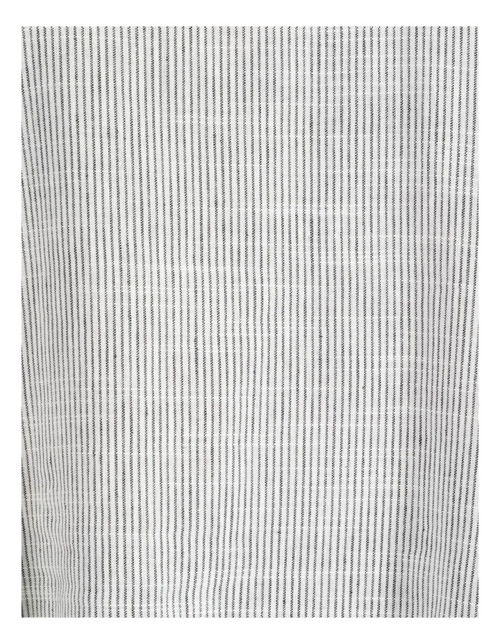 Stripe Rolled Sleeve Top Grey/Ivory image 6