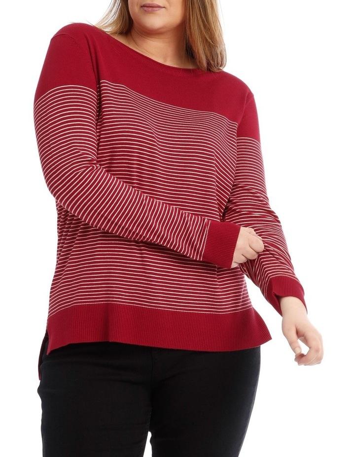 Long Sleeve Stripe Jumper image 1