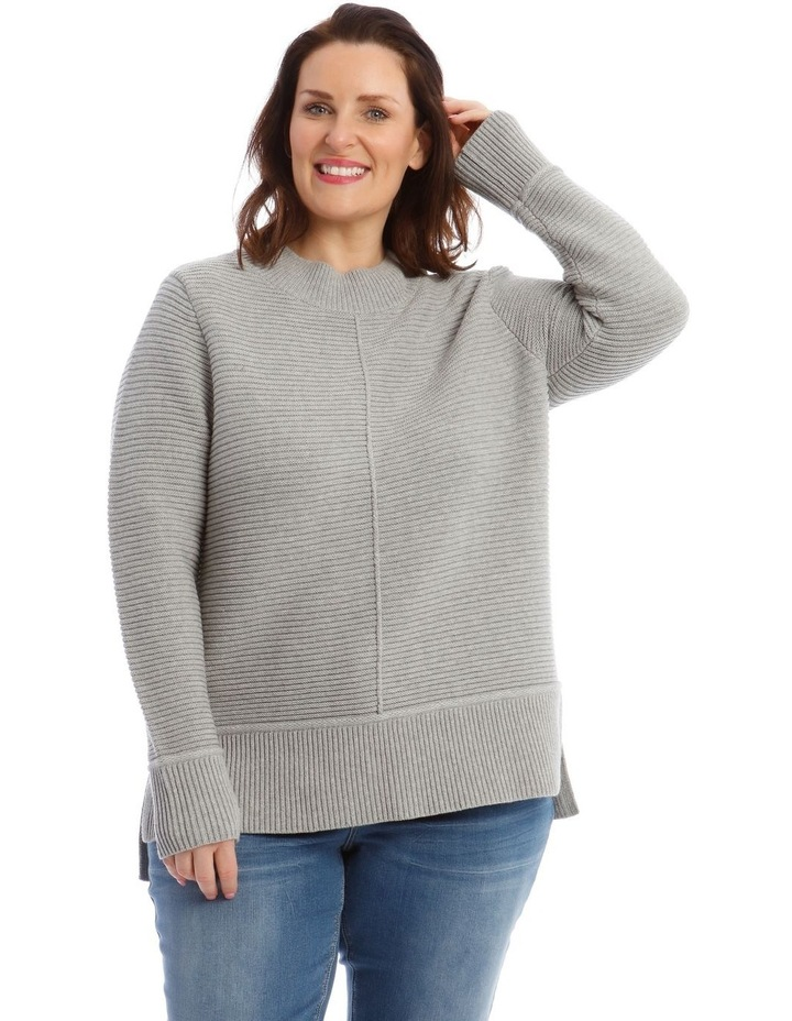 Stand Neck Seam Detail Long Sleeve Jumper image 1