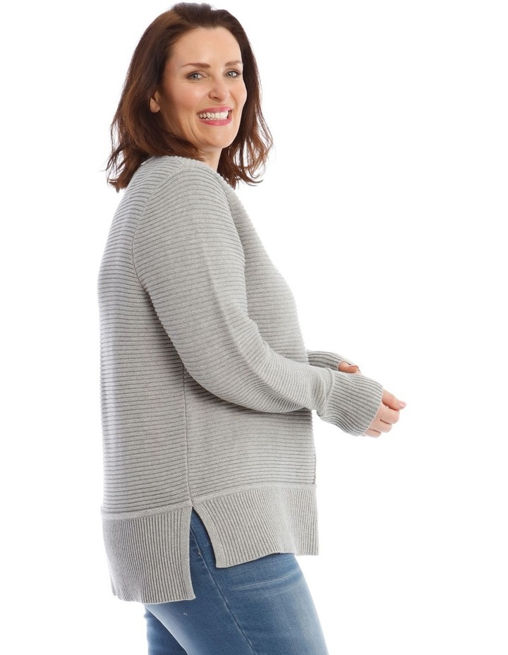 Stand Neck Seam Detail Long Sleeve Jumper image 2