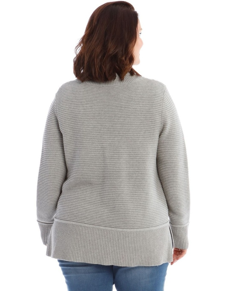 Stand Neck Seam Detail Long Sleeve Jumper image 3