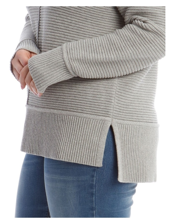 Stand Neck Seam Detail Long Sleeve Jumper image 4