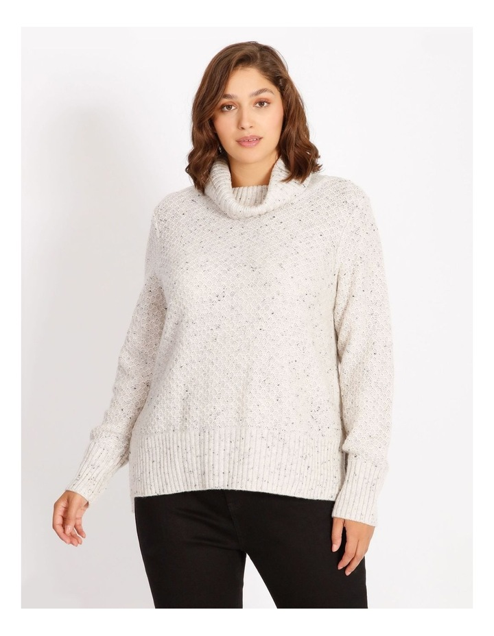 Confluence Roll Neck Jumper With Side Rib, Cf Seam And Side Splits image 1