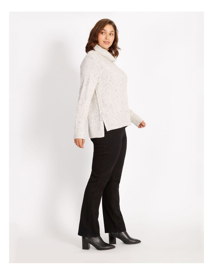 Confluence Roll Neck Jumper With Side Rib, Cf Seam And Side Splits image 2