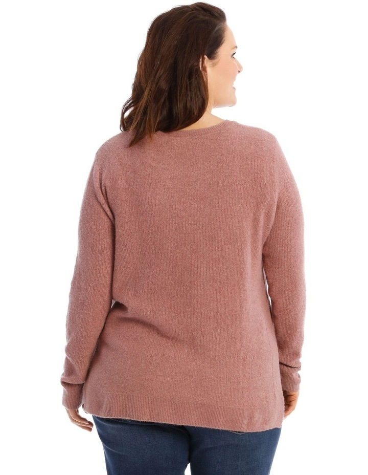 Confluence Crew Neck Long Sleeve Jumper With Fancy Stitch Side Seams image 3
