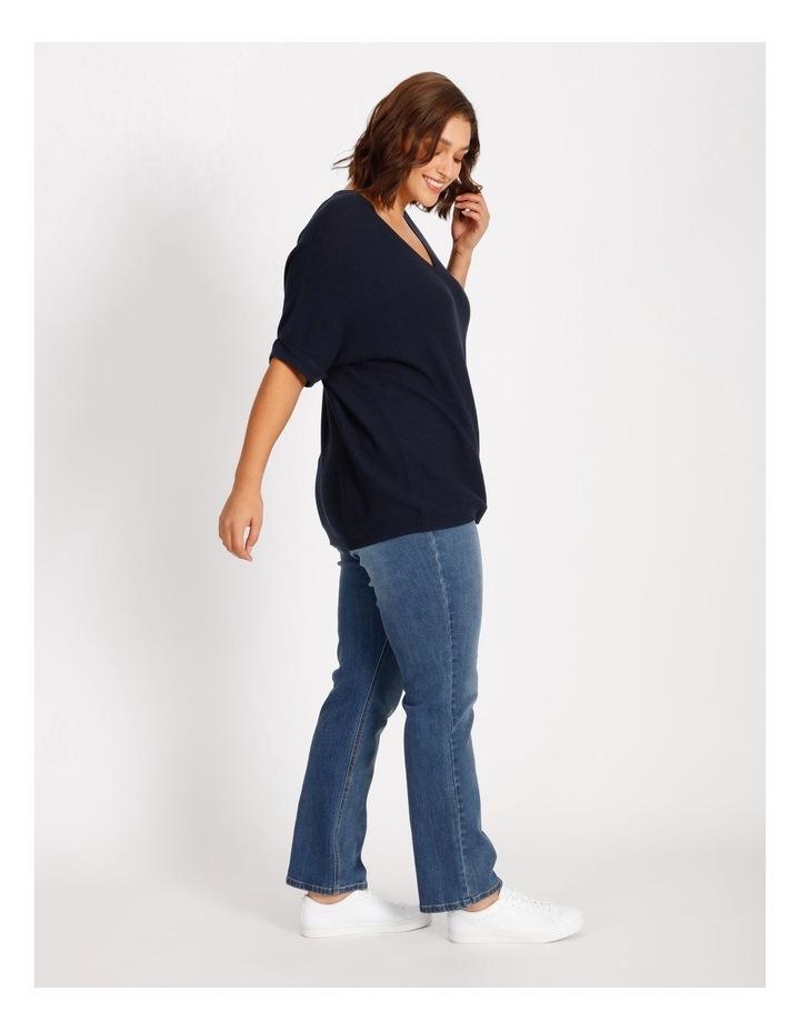 Short Sleeve Jumper With V-Neck image 2