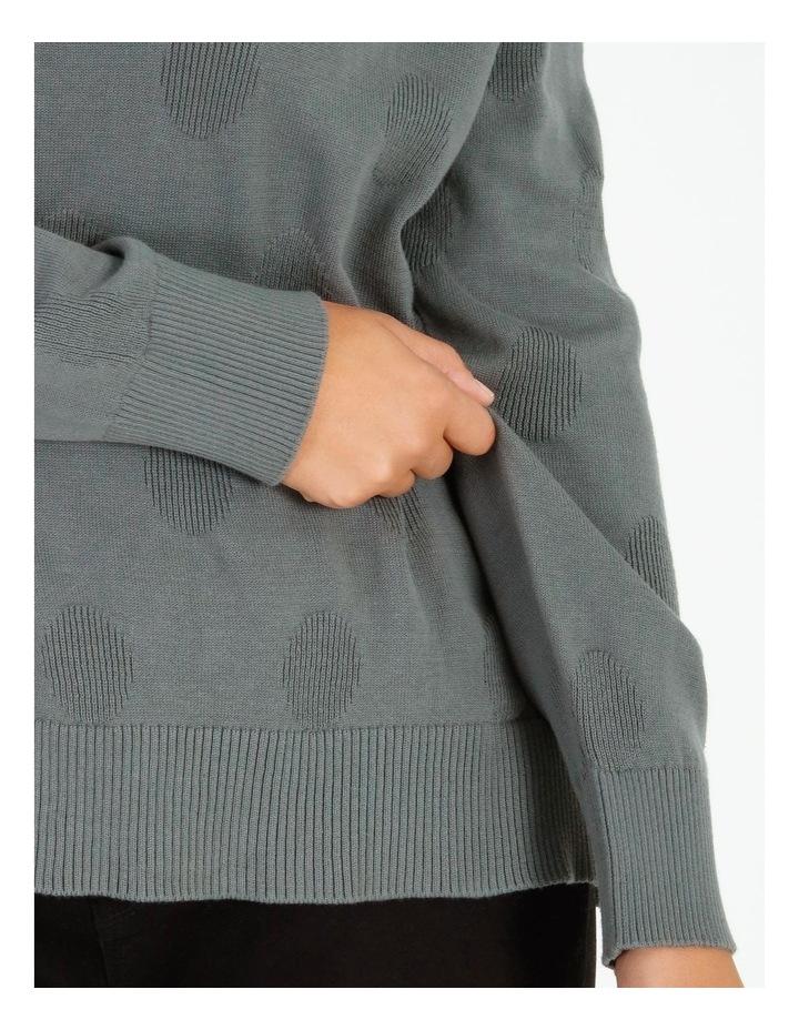 Pillar & Pine Long-Sleeve Textured Spot Jumper image 4