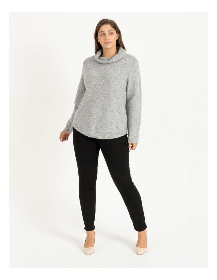 Cowl Neck Long Sleeve Jumper With Curved Hem image 2
