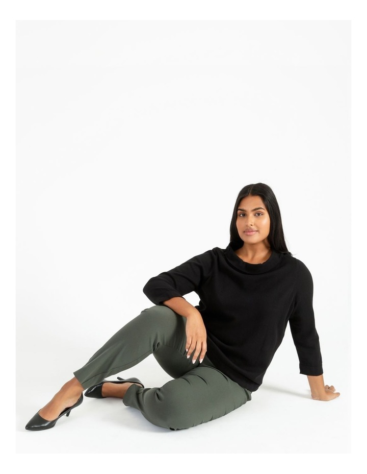 Fold Neck Jumper With 3/4 Sleeves image 2