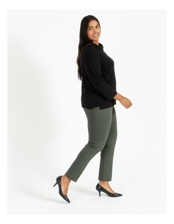 Fold Neck Jumper With 3/4 Sleeves image 3