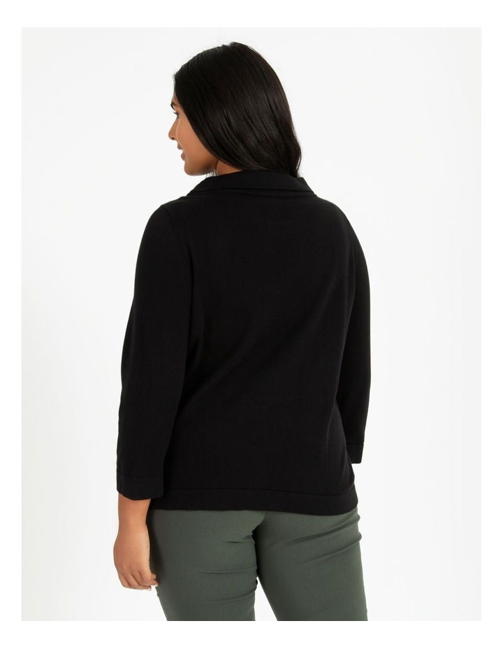 Fold Neck Jumper With 3/4 Sleeves image 4