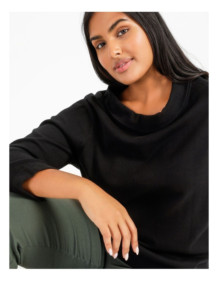 Fold Neck Jumper With 3/4 Sleeves image 5