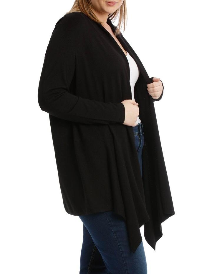 Peplum Shawl Collared Long Sleeve Cardigan image 2