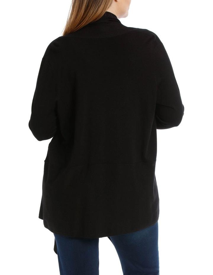 Peplum Shawl Collared Long Sleeve Cardigan image 3